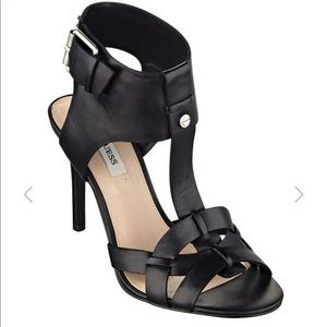 Guess Leather T-strap heels